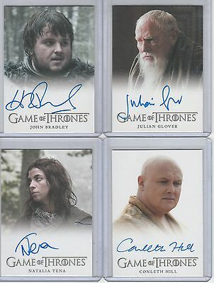Game Of Thrones Season 3 Conleth Hill Full Bleed Autograph