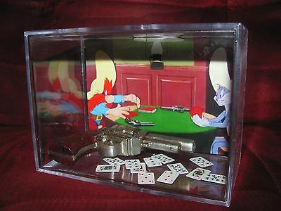 L@@K~BUGS BUNNY And SAM Playing for It All With a Card Game..LARGE DISPLAY