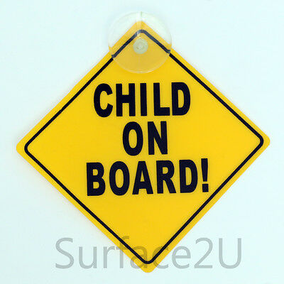 Child on Board Plastic Car Truck Window Sign with Suction Cup Driver Baby Safety