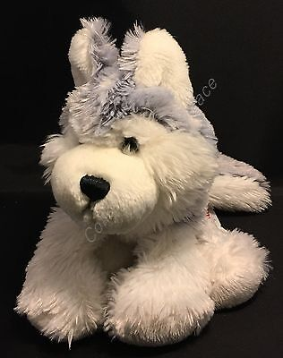 Ganz Webkinz Gray Husky Dog Stuffed Animal Plush Puppy Kids Toy