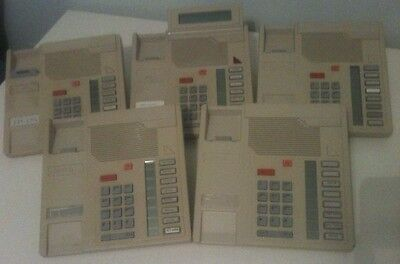 5 Piece Lot Nortel Meridian Business Phone Set M5008 and M5208 NT4X40AA NT4X41AA