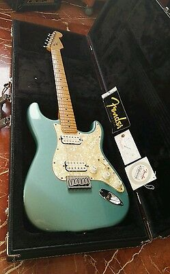 Fender American USA Big Apple Stratocaster Hardtail Teal Green Metallic 1998