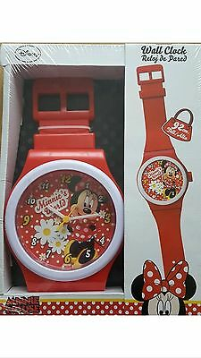 MINNIE MOUSE Wall Clock Giant Watch Design NEW 92cm Official DISNEY