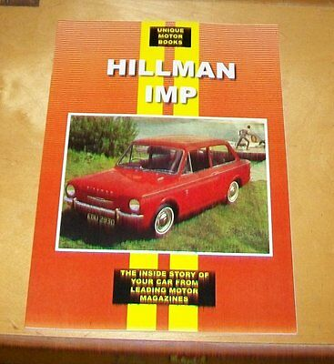 HILLMAN IMP  ROAD TEST + SERVICE DATA REPRINT BOOK UMB PRESS inc HARTWELL EMERY