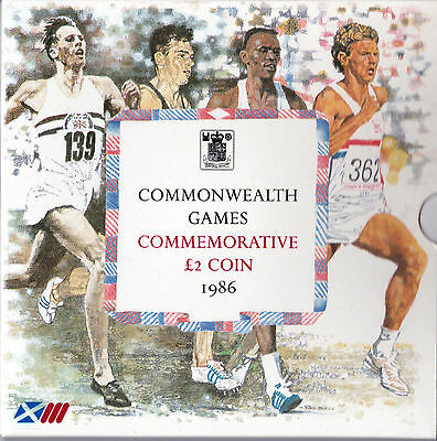 1986 Commonwealth Games £2 coin presentation pack