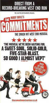 The Commitments British Tour 2017 - Promotional Flyer Buy 2 Get 1 Free!!!