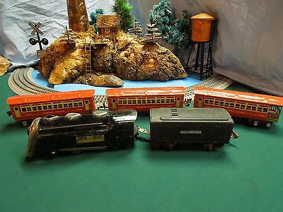 Commodore Vanderbilt Locomotiva Tender 3 vagoni Pullmans Observation scala 0 WW2
