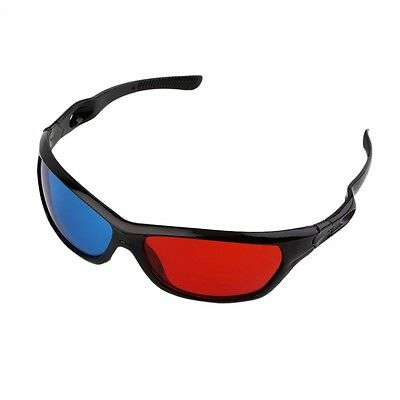 Universal 3D Glasses Black Frame Rosso Blu 3D Visoin Vetro Movie Game DVD Video