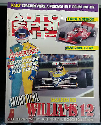 AUTOSPRINT 1989 n .25  F1 debutto Alfa in USA  GP Canada  Cerrato re d'Italia