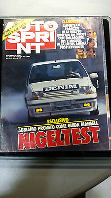 AUTOSPRINT 1987 n. 30 Test Nigel Mansel Rally Nuova Zelanda Test a Hockenheim