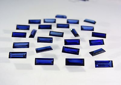 Blue Sapphire Baguette Cut Shape SIZE CHOICE Stones Loose Corundum Gemstones