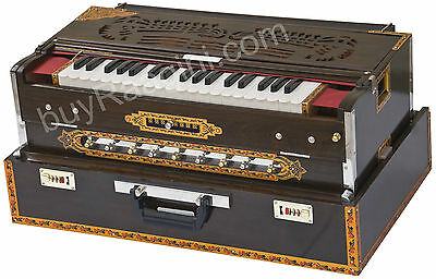 CALCUTTA HARMONIUM No.6200tw|MAHARAJA|3 REED|9 SCALE CHANGER|TEAK|BOOK|BAG|BGH