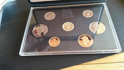 1988 Uk Coin Royal Mint Proof Set Great Britain +  7 Coin Cased Collection