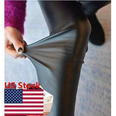 Fashion Women Tights Black Faux Fur Pants Ladies Slim Stretch Clubwear Trousers