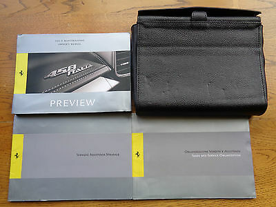 Ferrari 458 Italia Owners Handbook/Manual and Pack