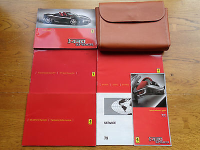 Ferrari F430 Spider Owners Handbook/Manual and Pack