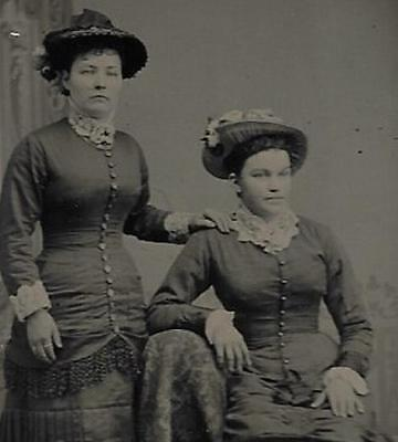 Tintype Photo #t4419          Pretty & Well Endowed Mother And Daughter