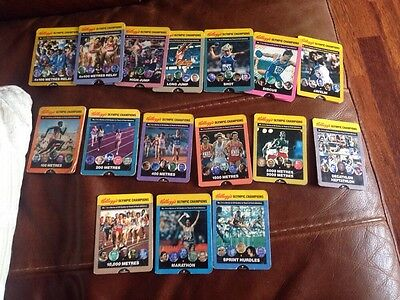 Kellogg's Olympic Champions Cereal Cards X16 1991 Rare