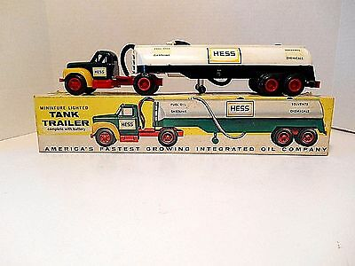 "Vintage  1964 Hess ""B"" Mack Tanker Trailer 'The First Hess Toy Truck"