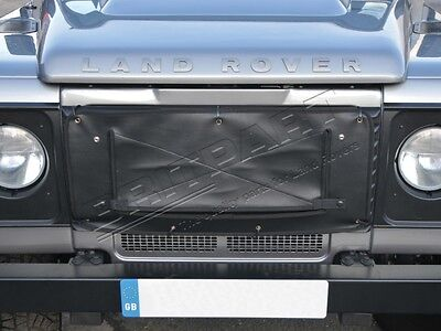 Land Rover Defender 90, 110 & 130 New Front Radiator Grille Muff Cover - Black