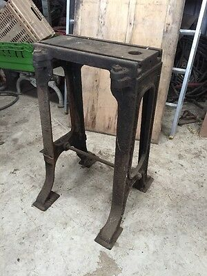 Vintage Cast Iron Machine Base Display Shop Table Stand Prop Industrial