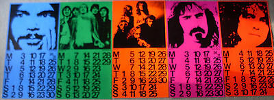 5 Calendar Poster Warner Reprise Neil Young Bolan Jethro Tull Faces Zappa 1972