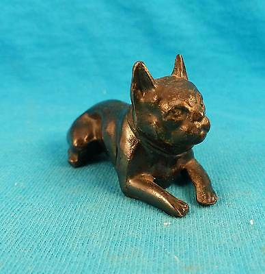 Old Boston terrier French bulldog FREE shipping vintage metal dog classic