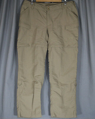 The North Face Womens Convertible Nylon Size 16 Pants Beige Hiking Camping