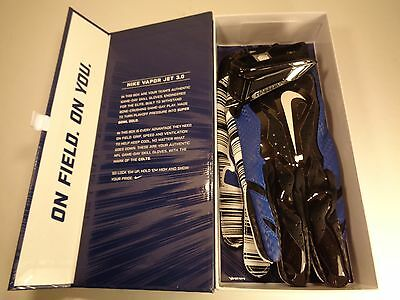 Nike Vapor Jet 3.0 Indianapolis Colts Football Gloves SZ L Large (GF0254-321)