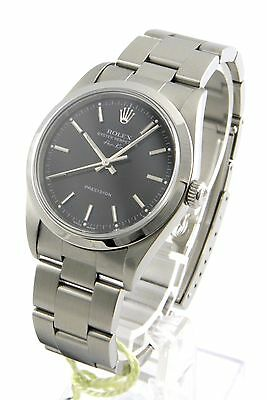Rolex Oyster Perpetual Air-King Stahl Armband Uhr Box + Papiere