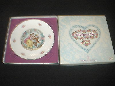 Beautiful Royal Doulton ,valentine Plate-1979-With Poem-Nice! Ex. Cond!