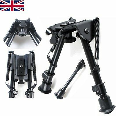 "Adjustable Legs 6"" to 9"" Height Sniper Hunting Rifle Bipod Sling Swivel Mount"