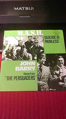 M.A.S.H - Suicide is Painless / John Barry -Theme From The Persuaders - Split 7""
