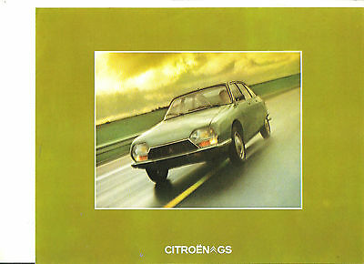 CITROEN GS 1974 / catalogue brochure prospekt folder dépliant catalog prospectus