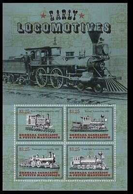 Early Locomotives, Trains, Railways Forney, Grenada Gr. 2014 MNH 4v SS - A50