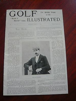 """Golf Illustrated No1 Vol 1 June 16th 1899  6"""" x 8"""" Re-Issue ( not original )"""