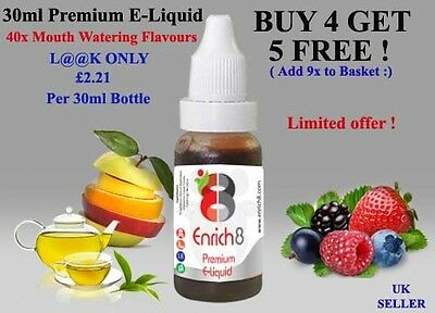 100ml Eliquid Juice 20PG/80VG 0mg,3mg,6mg Mouth Watering Flavours !
