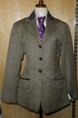 Tagg Maids Rider Florence Brown Tweed Show Jacket Velvet Collar