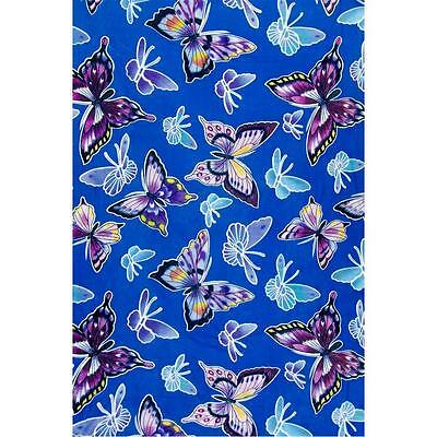 Butterfly w/Blue Background Rayon Sarong!
