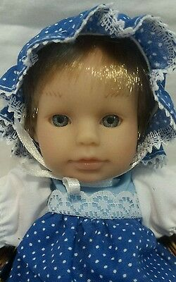 """Small 8"""" Berenguer Expressions Doll J.C. Toy Group Adorable Cute Happy girl"""