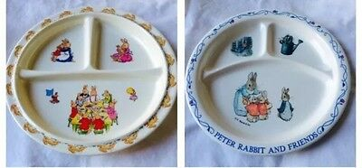 Peter Rabbit Divided Dish Plate Set Baby Toddler Melamine 2