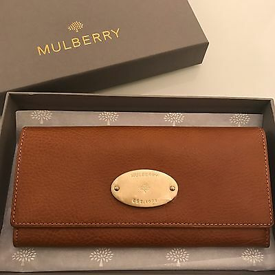 Mulberry Continental Leather Long Purse Wallet in Natural Veg Tan Oak