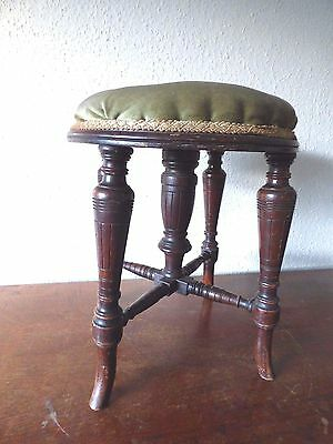 Antique Victorian walnut  stool
