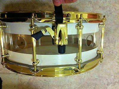 Custom Maple Acrylic Snare Brass Hoop Tube Lug for drum lp stand dw cymbal kit -
