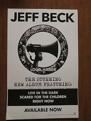Jeff Beck new promo poster for Loud Hailer Yardbirds Truth Beck-Ola Blow by Blow