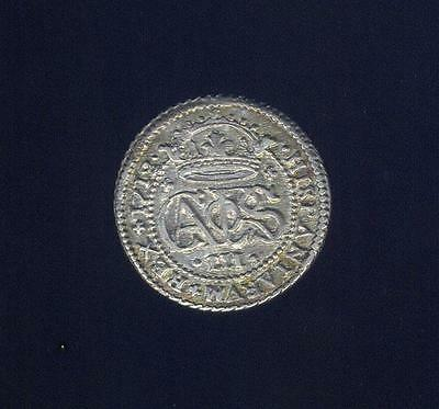Spain, Near Uncirc. 1712 Pretender 2 Reals From Interesting Numismatic Family