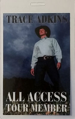 ******* TRACE ADKINS ******* Concert Tour laminated BACKSTAGE PASS - ALL ACCESS