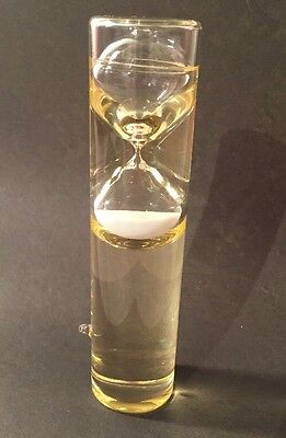 Unique Hourglass Timer In Glass Oil Filled Cylinder...3 Minute Kitchen Timer