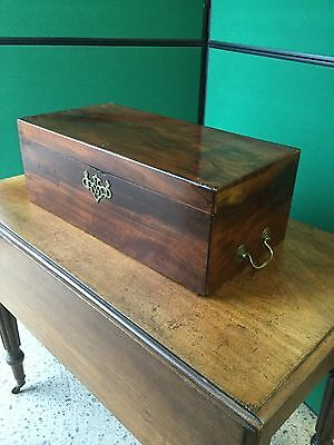 Antique Victorian Mahogany Writing Slope With Drawer Under