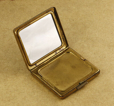 Vintage Compact with Mirror and Secret Compartment for Powder 52x58mm